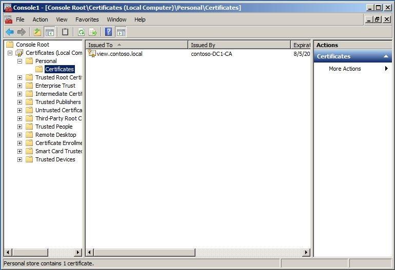 Vmware View 51 Ssl Certificates 802dotwhat